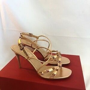 Valentino Garavani Rockstud Rose Gold Sandals.